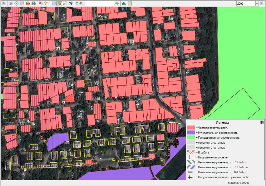 Картографический отчет инвентаризации земельных участков в подсистеме «Муниципальный земельный контроль»