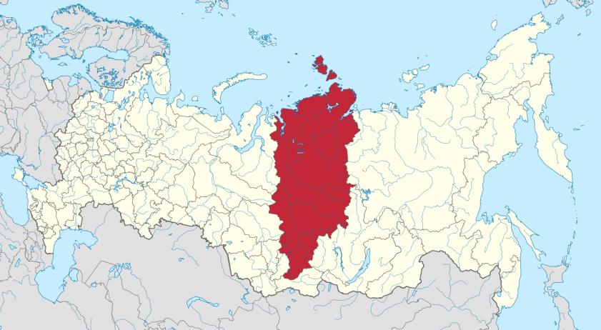 Красноярский край на карте России. Источник: ru.wikipedia.org